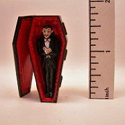 dracula in lined coffin