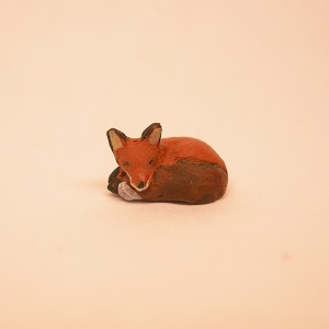 "1/4"" fox sleeping"